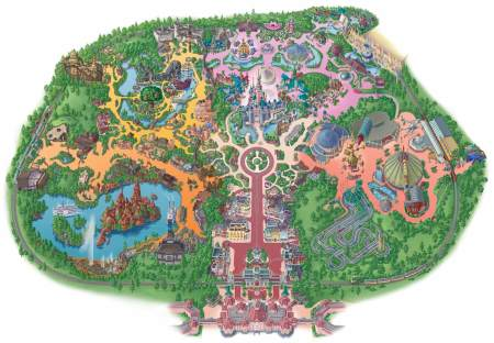 Disneyland Park Plattegrond