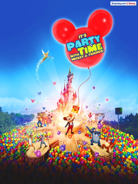 It's Party Time with Mickey & Friends Poster