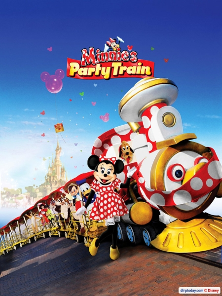 Minnie's Party Train Poster