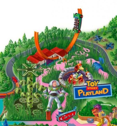 Toy Story Playland Map