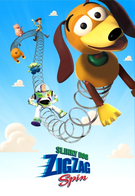 Slinky Dog ZigZag Spin Poster