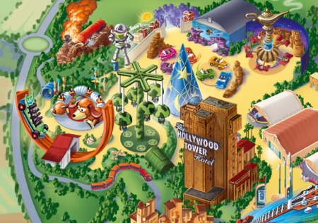 Toy Story Playland Resort Map