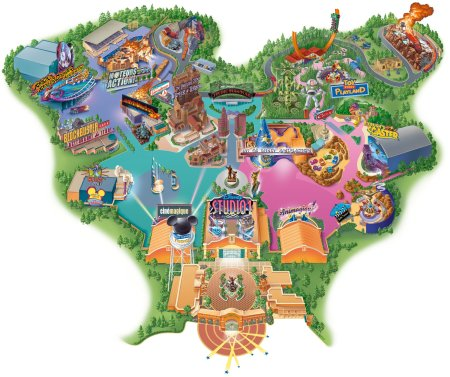 Walt Disney Studios Park Plattegrond