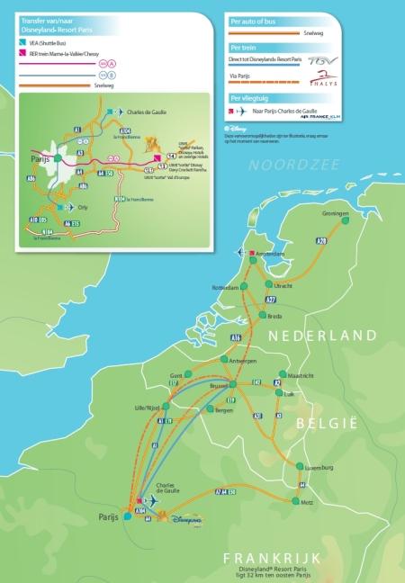 Wegenkaart & Treinverbindingen