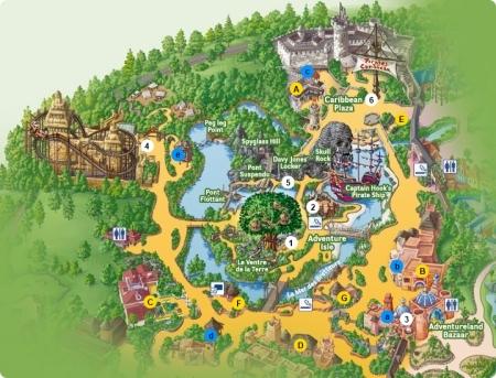 Plattegrond Adventureland