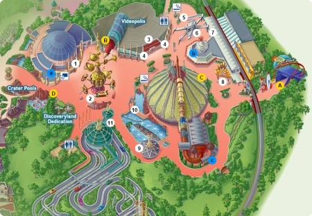 Plattegrond Discoveryland