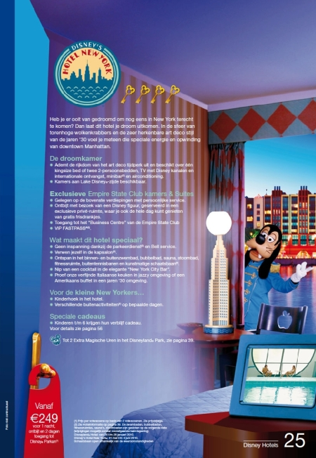 Disney's Hotel New York (Brochure Zomer 2010)