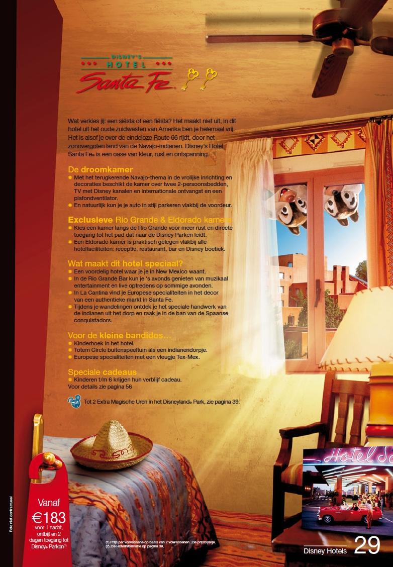 disneys hotel santa fe brochure zomer 2010