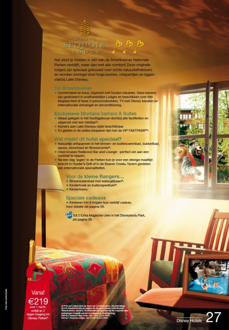 Disney's Sequoia Lodge (Brochure Zomer 2010)
