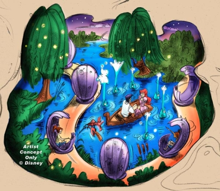 The Little Mermaid darkride concept art