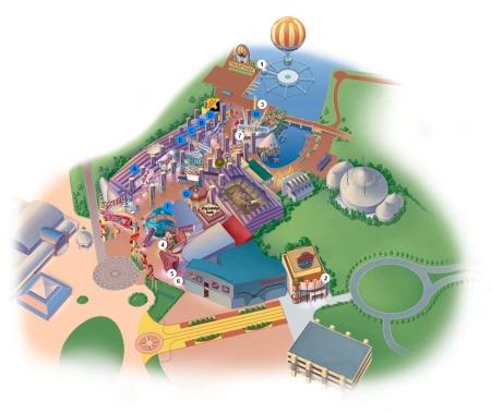 Plattegrond Disney Village - Attracties & Winkels