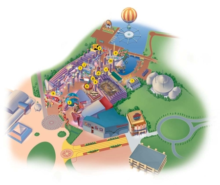 Plattegrond Disney Village - Restaurants