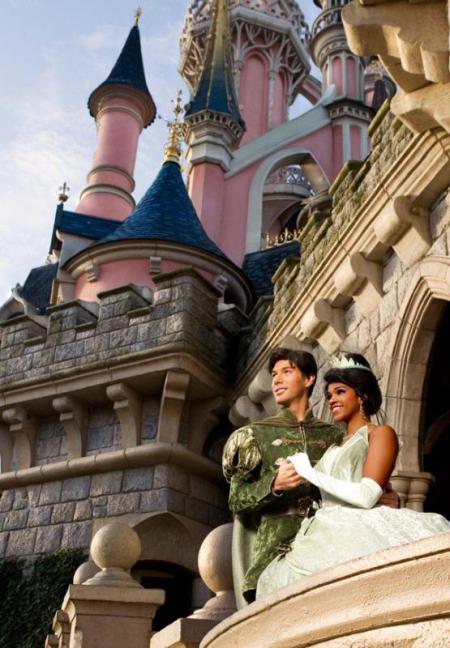Princess Tiana & Prince Naveen in het Disneyland Park