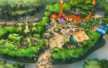 Concept Art van Toy Story Playland