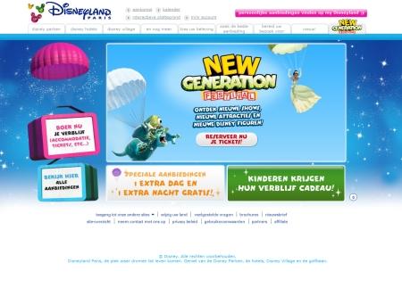 Nieuwe website Disneyland Parijs