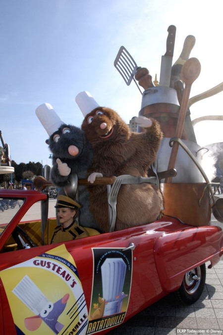 Ratatouille wagen in Disney's Stars 'n' Cars
