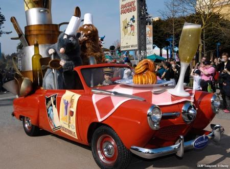 Ratatouille wagen in Disney's Stars 'n' Cars