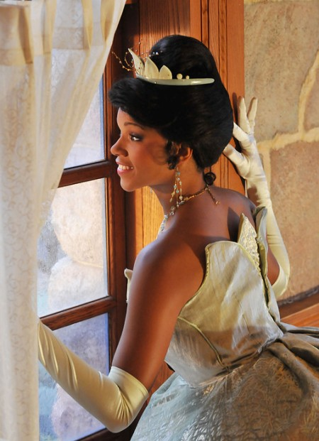 Princess Tiana in het Disneyland Park