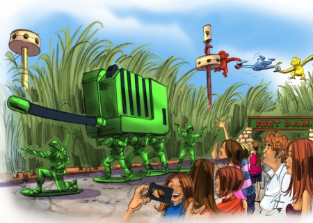 Toy Story Playland (toy soldiers parachute drop - general meeting)