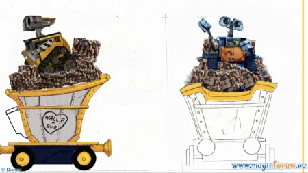 WALL-E op de Disney All Stars Express (concept art)