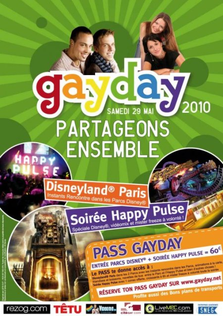 GayDay 2010 in Disneyland Parijs