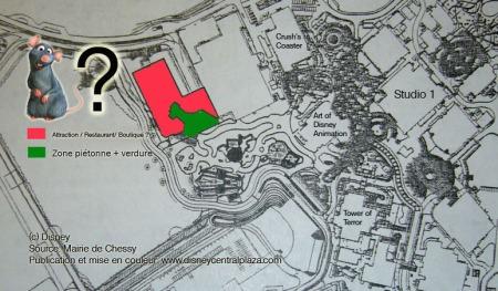 Locatie Ratatouille in het Walt Disney Studios Park