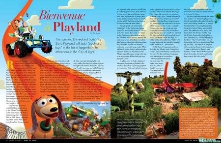 Artikel uit Disney Newsreel over Toy Story Playland