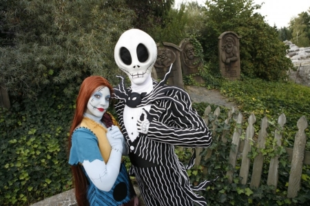 Jack & Sally tijdens Disney's Halloween Festival 2010